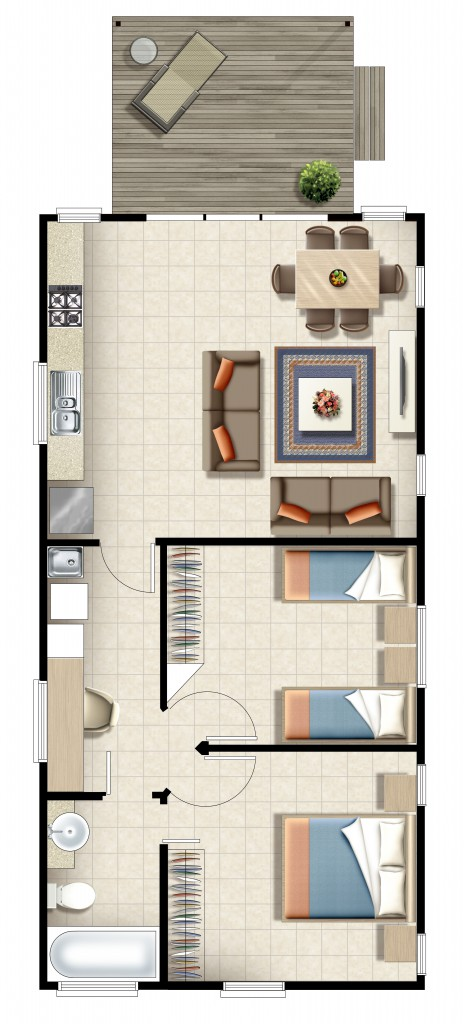Woodgate Beach Houses Beach House Floor Plan
